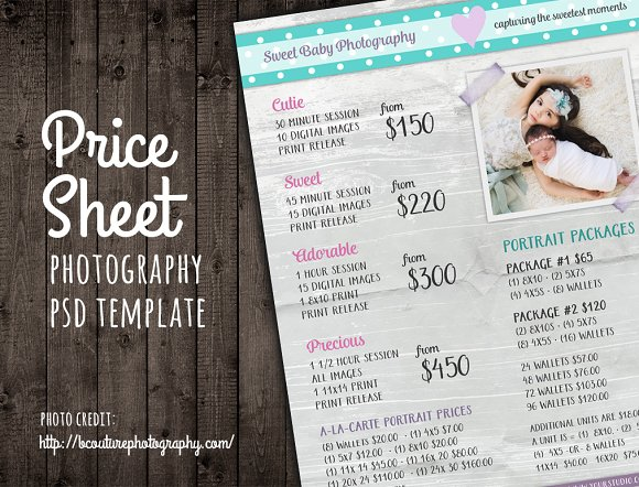 price sheet list psd template templates