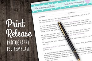 Print Release Form Template Contract