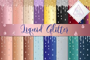 Liquid Glitter Digital Paper
