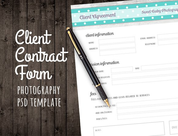 Client Agreement Contract Form Psd Templates Creative Market