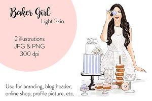 Baker Girl - Light Skin