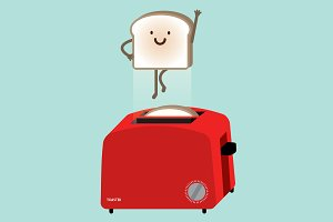 toaster / superbread/ vector