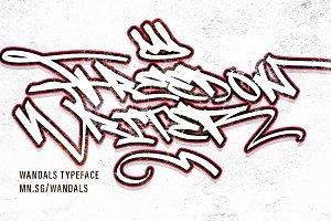 Wandals - Graffiti Font
