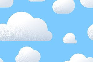 A lot of cute clouds with texture