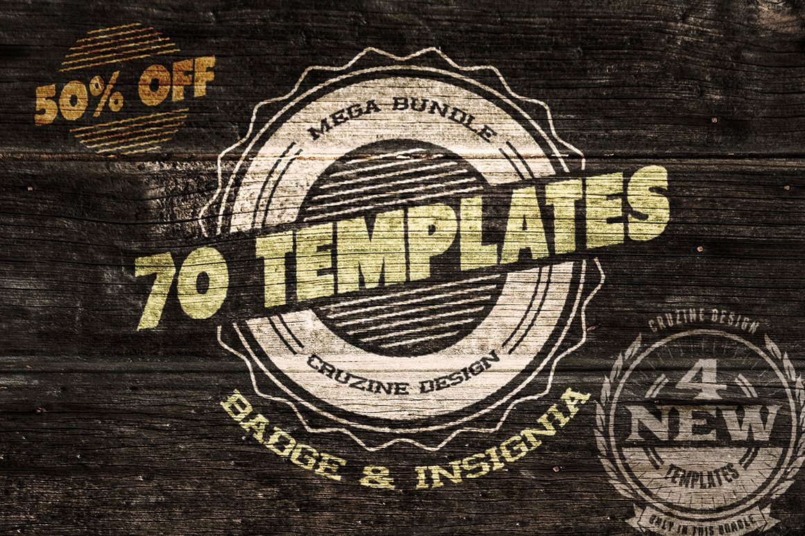 70 logo / badge / insignia templates ~ logo templates ~ creative market