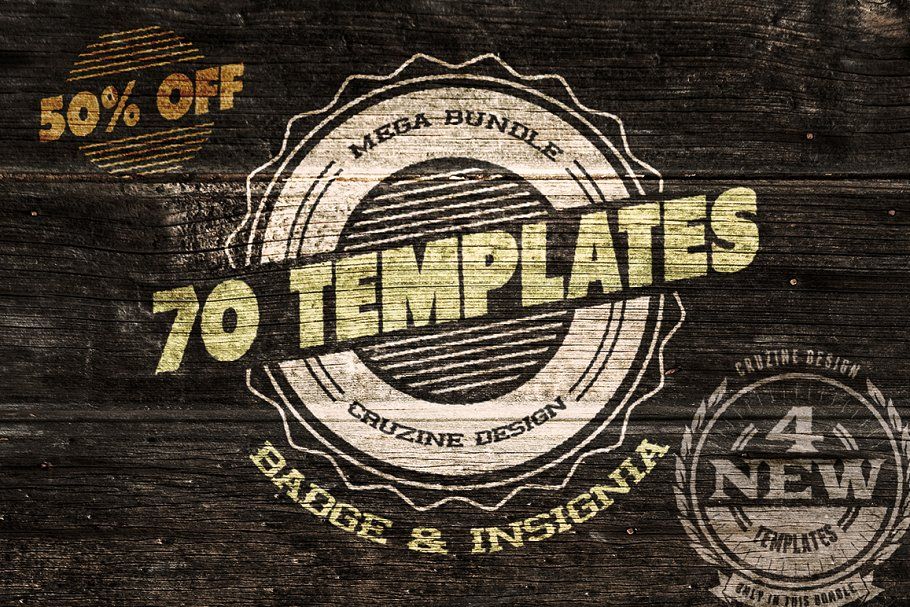 70 Logo / Badge / Insignia Templates ~ Logo Templates