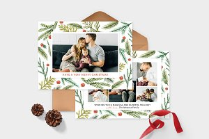Christmas Photo Card Template -CD087