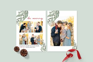 Christmas Photo Card Template -CD088