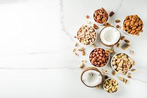 Various organic nuts