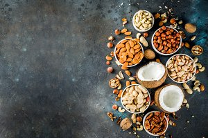 Various types of nuts