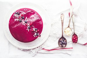 White Chocolate and Blueberry Mousse