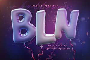 Balloons – 3D Lettering