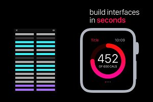 Apple Watch UI Kit | Ps Actions