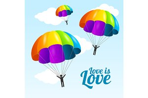 Parachute Lgbt Friendly Concept
