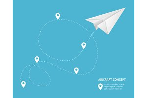 Paperplane Track Aircraft Concept
