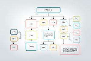 Fowchart, infographic scheme.