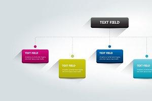 Fowchart, timeline Infographics