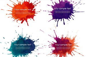 Splash watercolour banner blots