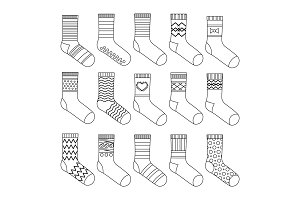 Flat design socks set vector
