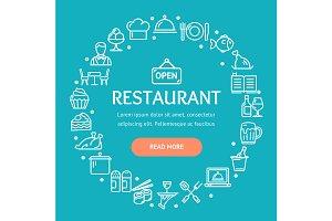Restaurant Signs Round Design