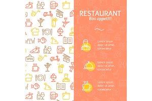 Restaurant Service Concept Banner.