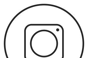 Social icon stroke icon, logo