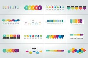 Mega set of timeline infographic