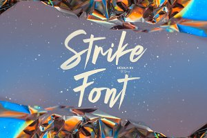 Strike script font