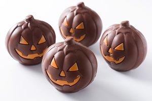 Chocolate Halloween pumpkins
