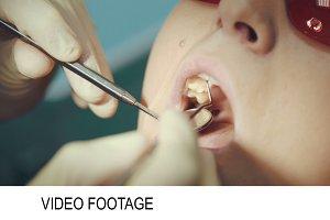 Dentist providing examination