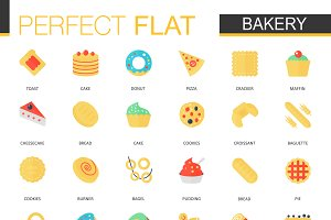 Bakery food icons.