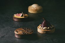 Variety of sweet tartlets by  in Food & Drink