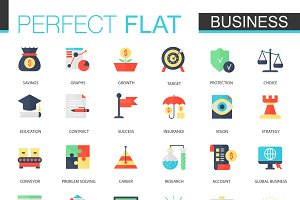 Vector set of flat Business icons