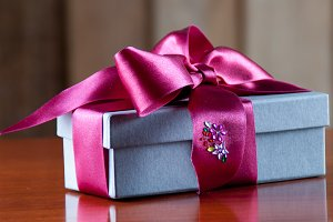 Holiday Gift Packed into Grey Box