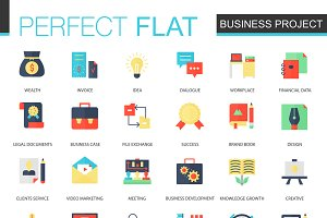 Business finance project icons.