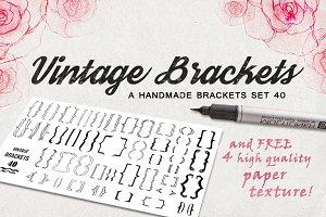 Vintage brackets pack 40 + bonus