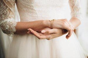 Beautiful bride's hands