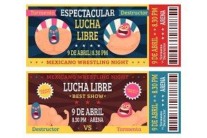Lucha libre ticket. Mexican