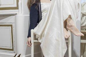 Fashion art portrait of beautiful wo