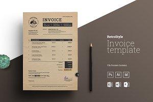 Retro Invoice | Excel & More Formats