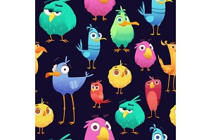 Angry birds pattern. Game parrots