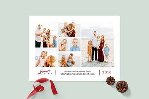 Christmas Photo Card Template -CD089