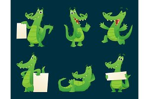 Alligator characters. Wildlife