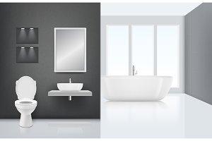 Modern bathroom interior. Toilet