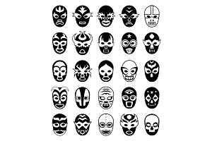 Fighters masks. Mexican lucha libre