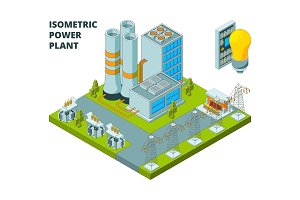 Electric power factory. Industrial