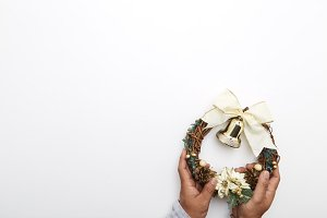 Christmas wreath New Year 2019