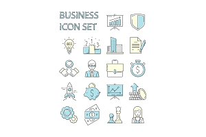 Colored business icon. Responsive
