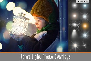 Lamp Light Photo Overlays