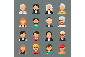 Professions avatars. Businessman